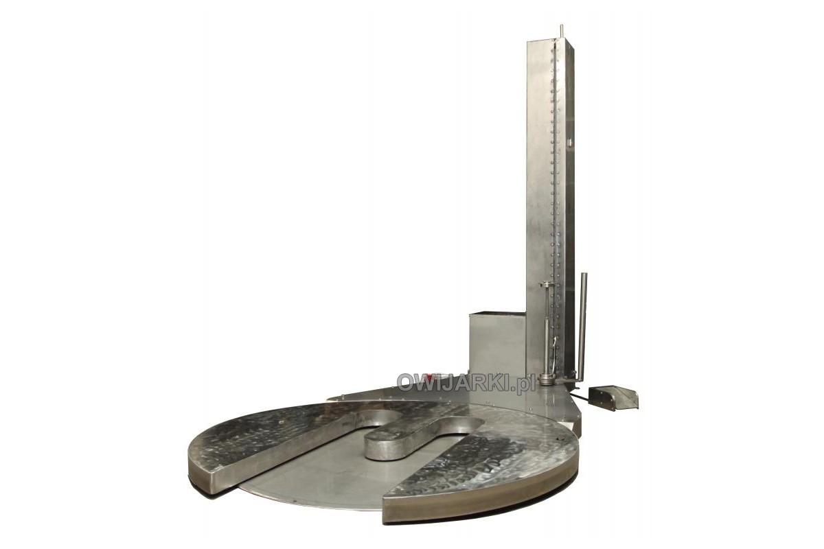 Owijarka do palet WS 0011N wykonana ze stali nierdzewnej Paleciarka do folii stretch