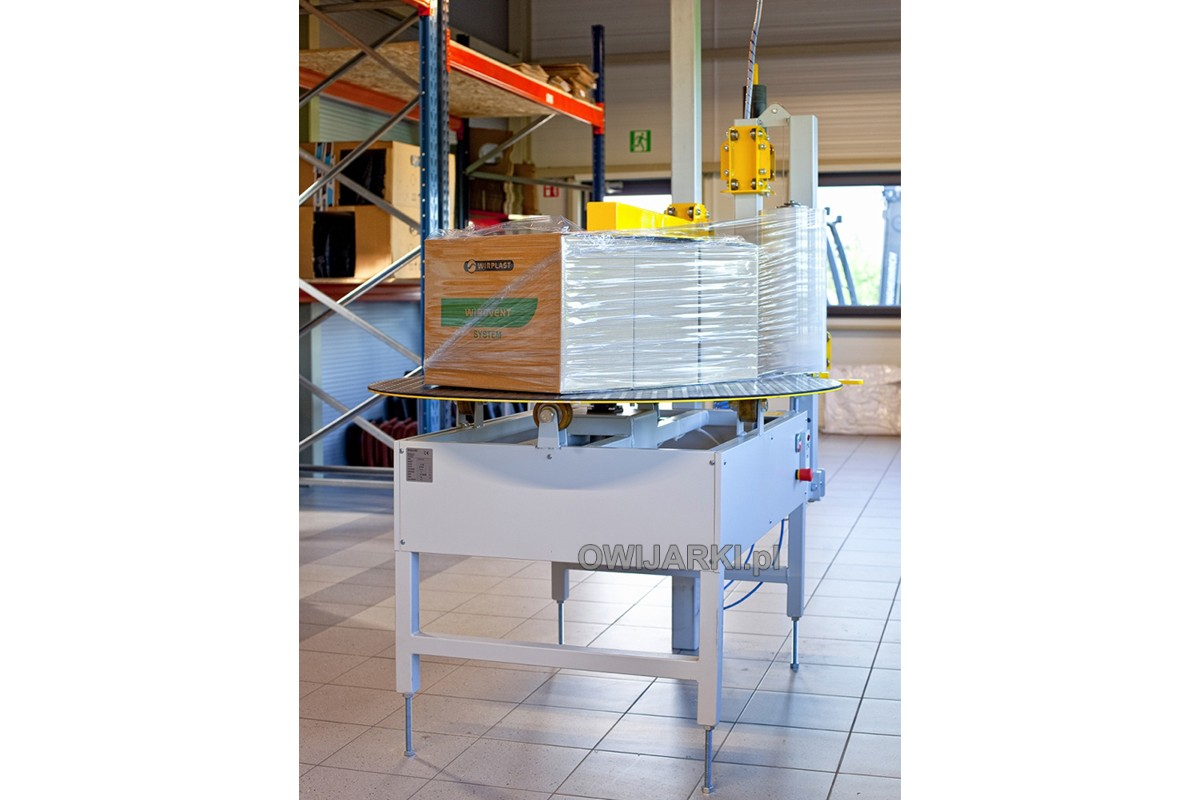 Owijarka paczek kartonów WP1200 z dociskiem