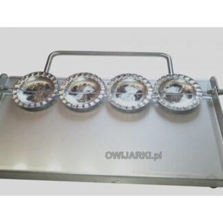 Ręczna maszynka do produkcji pierogów 4 szt.jednocześnie i średnicy 100mm z falbanką stal nierdzewna kwasodporna